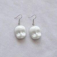 cartoon funny earrings fashion womens jewelry pendant personality elf head baby face earrings simple resin earrings earring