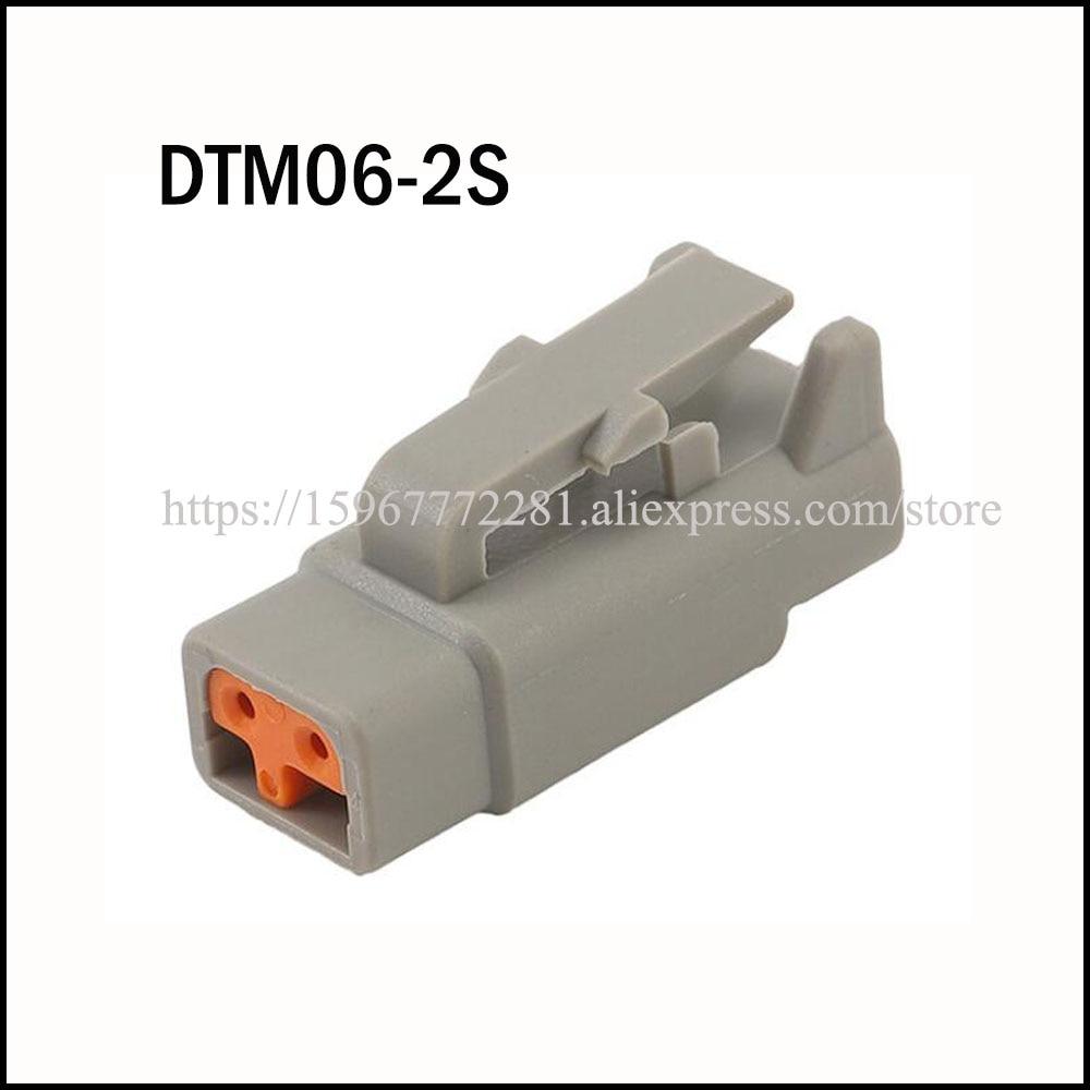 100 مجموعة/وحدة DTM06-2S سيارة الإناث موصل كابل محطة سترة السيارات المقبس 2 دبوس موصل السيارات التوصيل DJ70210Y-1-21