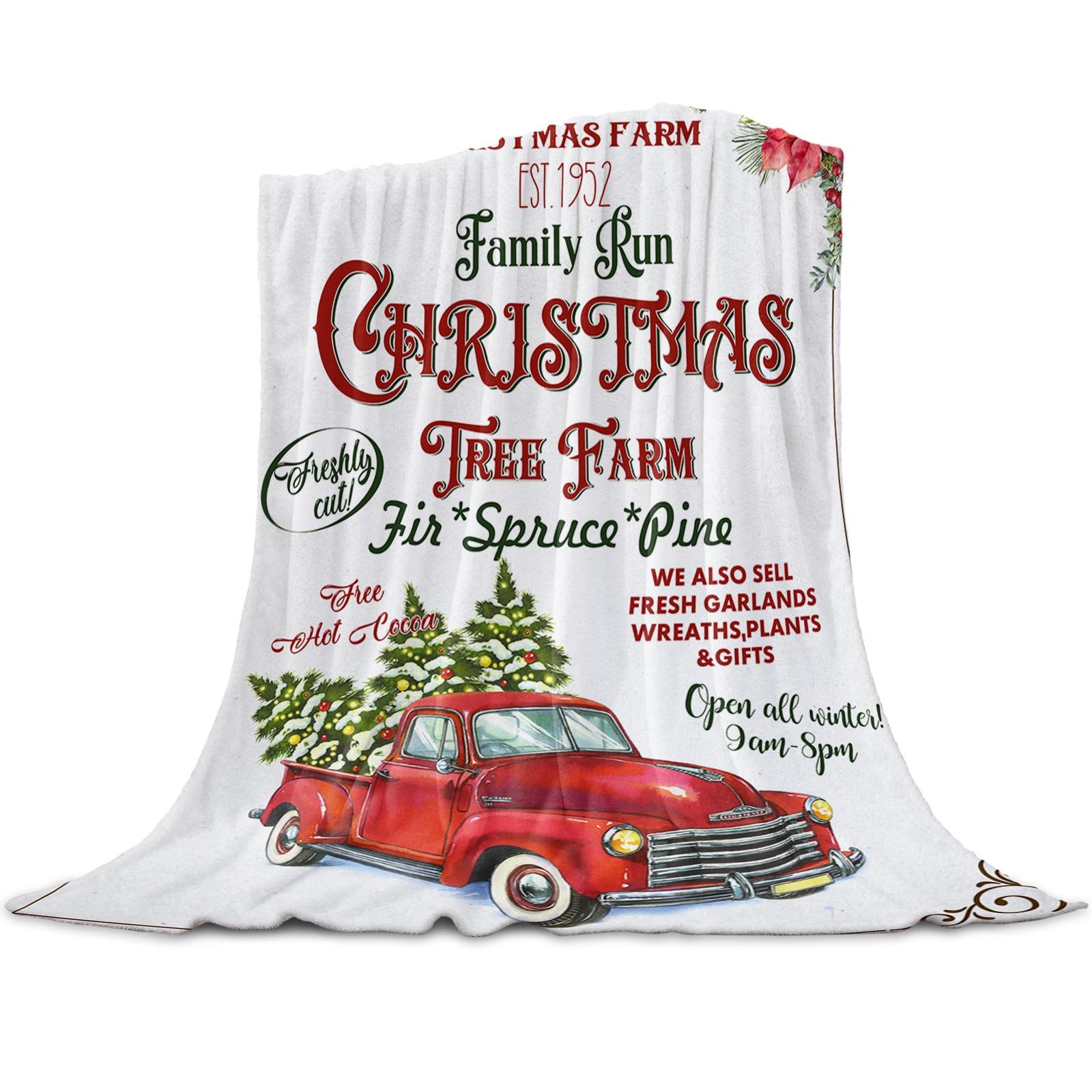 عيد الميلاد جرار المزارع شجرة عيد الميلاد رمي بطانية للأسرة ستوكات الفانيلا بطانية دافئة أريكة الفراش المفرش الهدايا