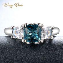 Wong pluie Vintage 100% 925 en argent Sterling saphir topaze pierre gemme de mariage bague de fiançailles bijoux de qualité en gros livraison directe