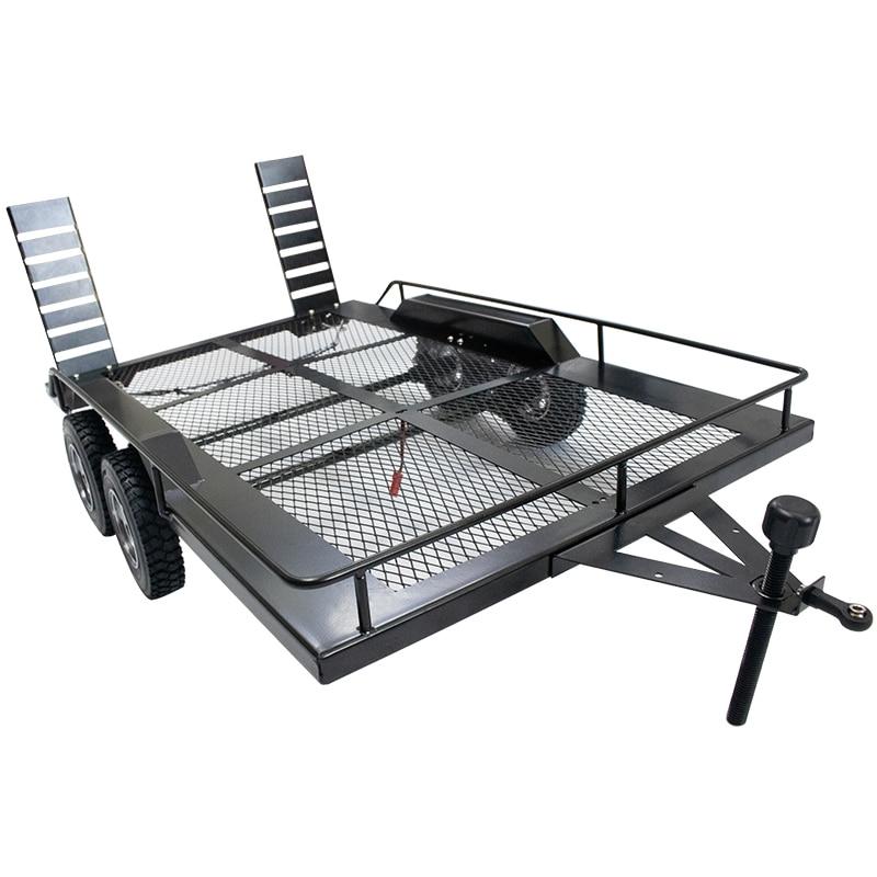 KYX Racing-مقطورة معدنية شديدة التحمل لشاحنة 1/10 Rc Rock Crawler ، Traxxas TRX4 Axial SCX10 SCX10 II 90046 90047 CC01 D90 D110