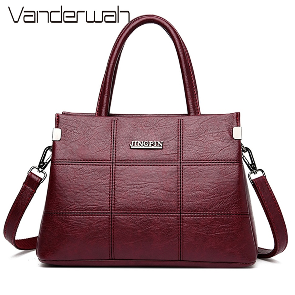 Трехуровневая кожаная роскошная сумка женские сумки дизайнерские