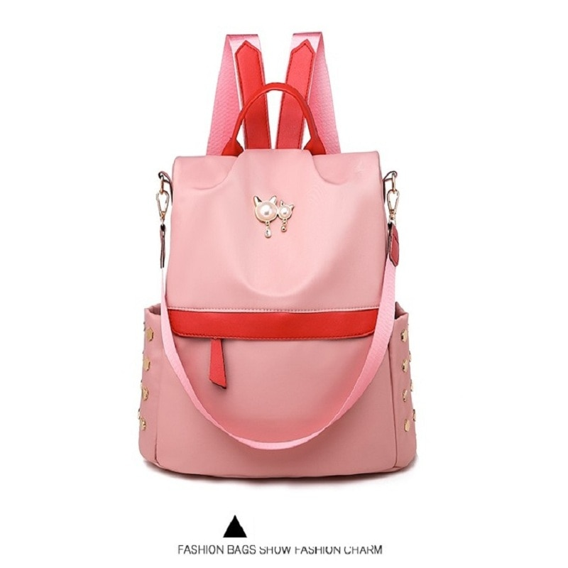 Mochila feminina anti-roubo estudante oxford pano mochila adolescentes menina sacos de viagem crianças casual ombro