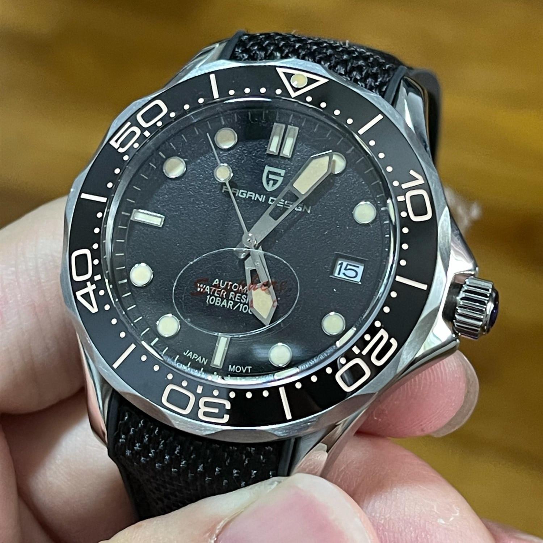 PAGANI DESIGN-ساعة يد زرقاء للرجال ، مقاومة للماء ، 2021 متر ، موديل جديد 100 ، 007 Commander ، NH35 1667 ، اليابان