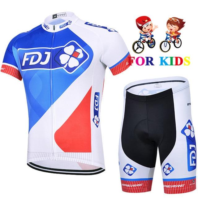 Roupas de Bicicleta ao ar Crianças Nova Equipe Meninos Mtb Manga Curta Verão Ciclismo Jérsei Terno Livre Maillot Ropa Pro