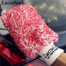 Lucullan перчатки из микрофибры с двумя ведрами, 3 цвета, Премиум Мочалка для автомобиля, большой размер, специально для автомоек