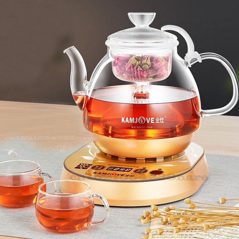 تبخير الكهربائية إبريق الشاي المغلي غلاية شاي كهربائية آلة التلقائي الغليان كوب للشاي من الزجاج وعاء البخار الغليان براد شاي 800 واط 220 فولت