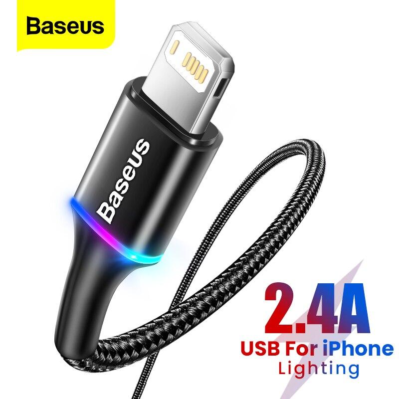 Baseus-Cable USB de iluminación para móvil, Cable de carga rápida para iPhone...