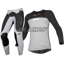 Flexair Royl Jersey pantalon MX   Moto, noir, gris délicat, Fox cross Racing 2019, combinaison tout-terrain, moto, Kit