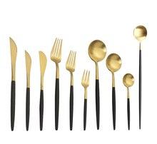Spklifey ensemble de couverts 10 pièces/ensemble inox couverts cuisine couteau cuillère fourchette dîner ensemble fourchettes cuillères couteaux vaisselle