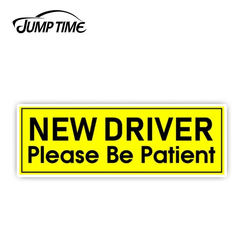 JumpTime, nuevo controlador de 13cm x 4,3 cm, pegatina de parachoques para el paciente, pegatina de vinilo para el estudiante, accesorios impermeables para ventanas para el coche