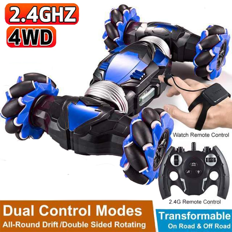 RC Car 4WD Dual Remote Control Stunt Car Gesture Induction Radio Control Off Road Drift Vehicle RC T
