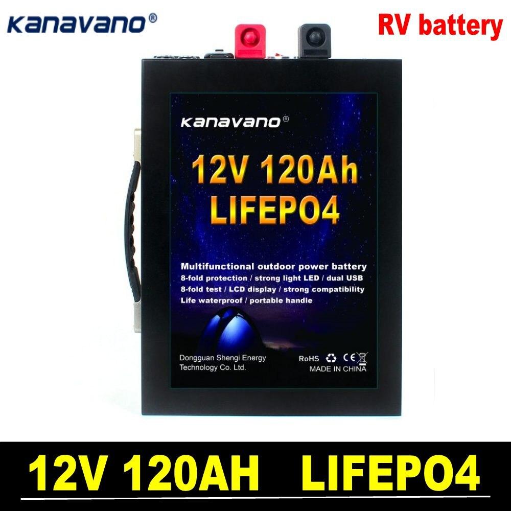 Batería recargable de litio de 12V lifepo4 120ah 100ah 40ah con BMS al aire libre para motor de barco especial coche y batería RV