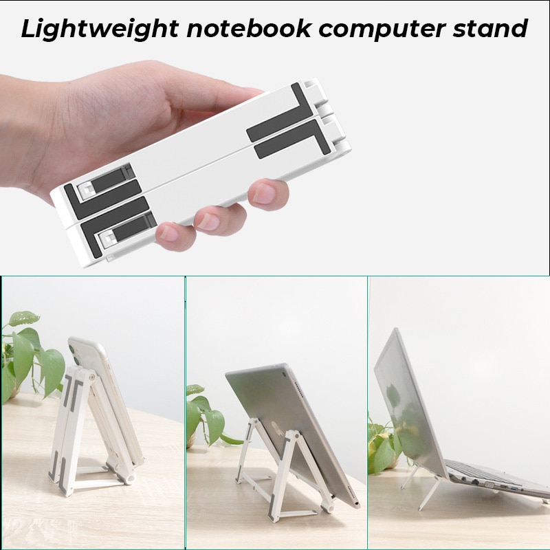 Computer Holder Plastic Multifunctional Foldable Three-in-one Laptop Stand Suitable for Mobile Phones Tablet Computers Notebook enlarge