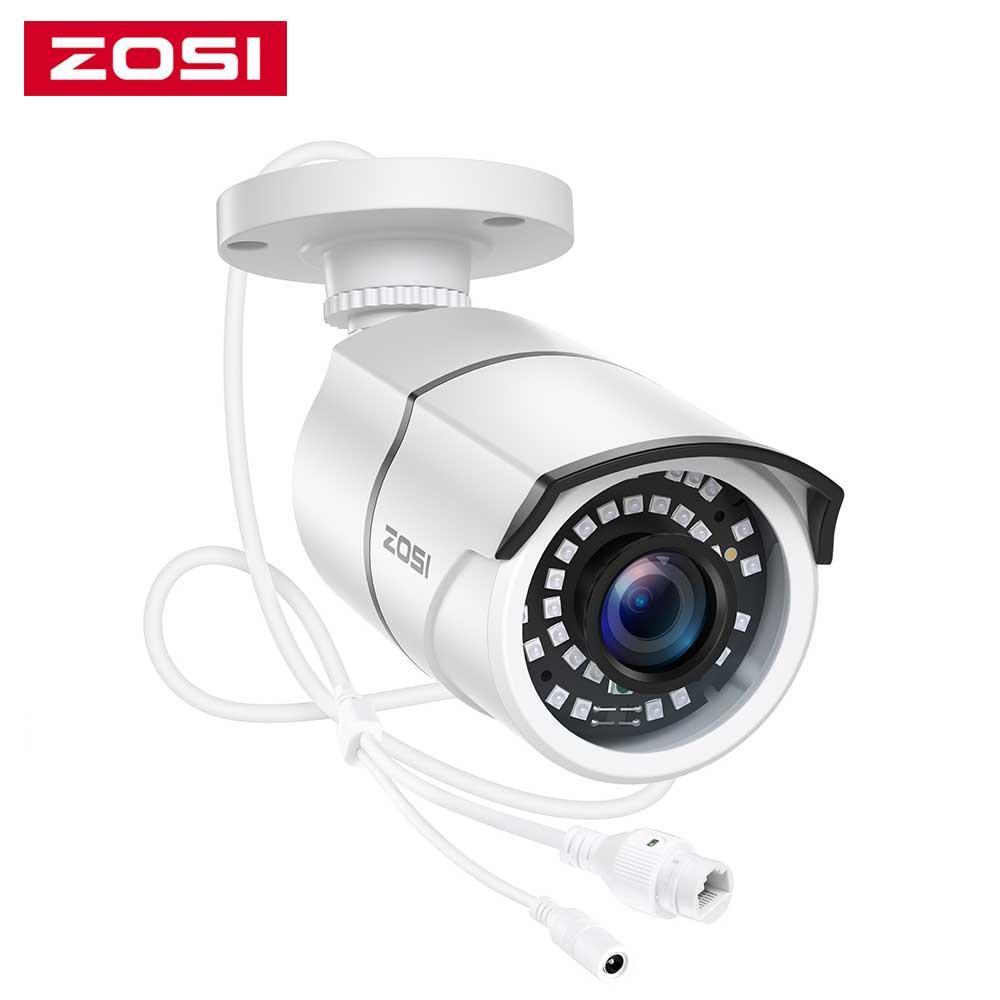 زوسي 1080P HD POE كاميرا IP H.265 + 2MP رصاصة CCTV كاميرا IP لنظام POE NVR مقاوم للماء في الهواء الطلق للرؤية الليلية