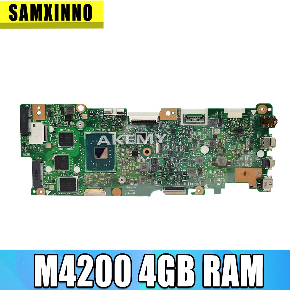 Placa base para For Asus Vivobook abatible TP401NA TP401N N4200, 4GB de RAM, no con SSD