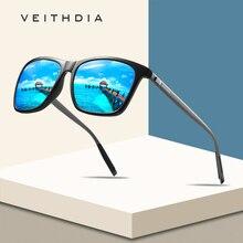 VEITHDIA Brand Unisex Retro Aluminum+TR90 Square Polarized Sunglasses Lens Vintage Eyewear Accessori