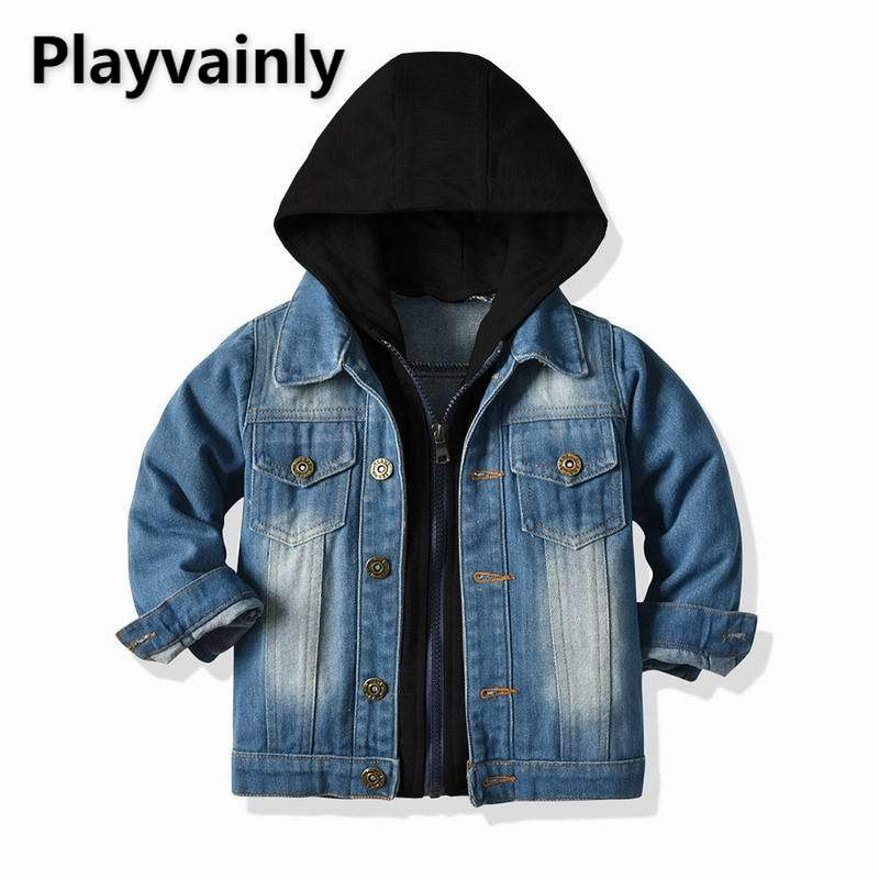 2021 New Boys Girls Jackets Baby Coats Denim Casual Kids Jackets for Boys Girls Kids Clothes E20228