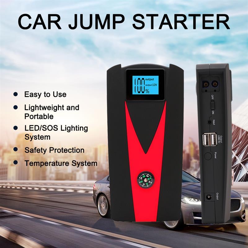 99900mAh LED Motorcycle Car Jump Start Starter Dual USB Charger Battery Power Bank Booster 12V Backu