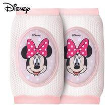 Disney Baby Elastic Leg Warmers Toddler Safety Kids Knee Pads Cotton Anti-slip Short Kneepad Crawling Protector Breathable Crawl