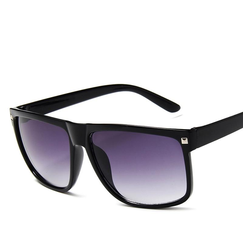 Brand 2020 Sunglasses Women Gradient Lens Black Leopard Flat Top Oversized Shadow Shield Ladies Sun