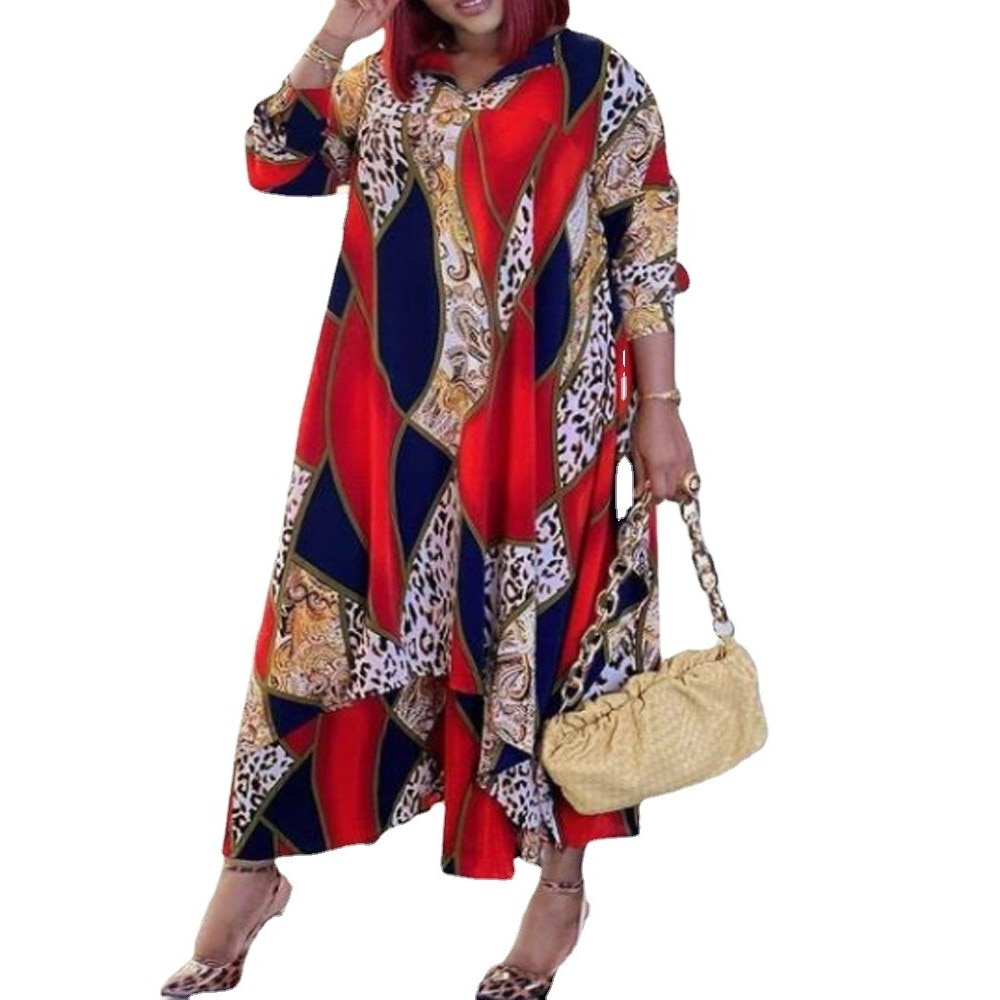 African Print Dresses For Women Dress 2021 Dashiki Pleated Dress African Clothes Plus Size Africa Clothing Christmas Robe