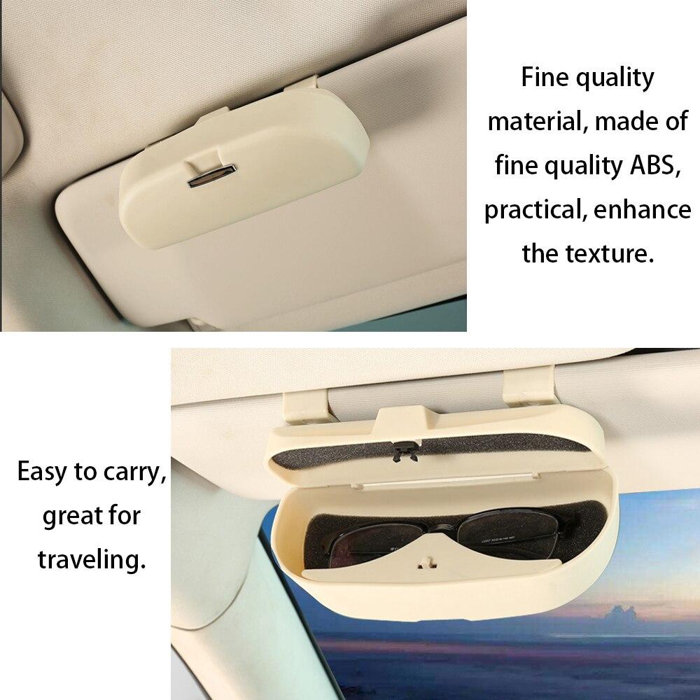 Glasses Clip Case Organizer Box Sunglasses Holder Storage Pockets for Renault Duster For Tesla Model 3 Bmw Ford VW Volkswagen