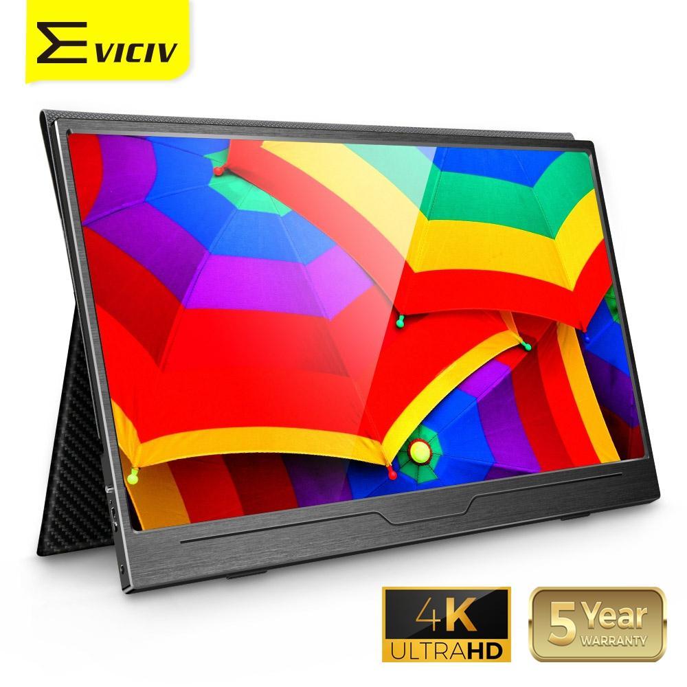 Monitor portátil Eviciv 15,6 4K, USB tipo C, pantalla IPS para PS4 Switch Xbox Huawei teléfono Xiaomi, modo de escritorio, portátil, segunda pantalla