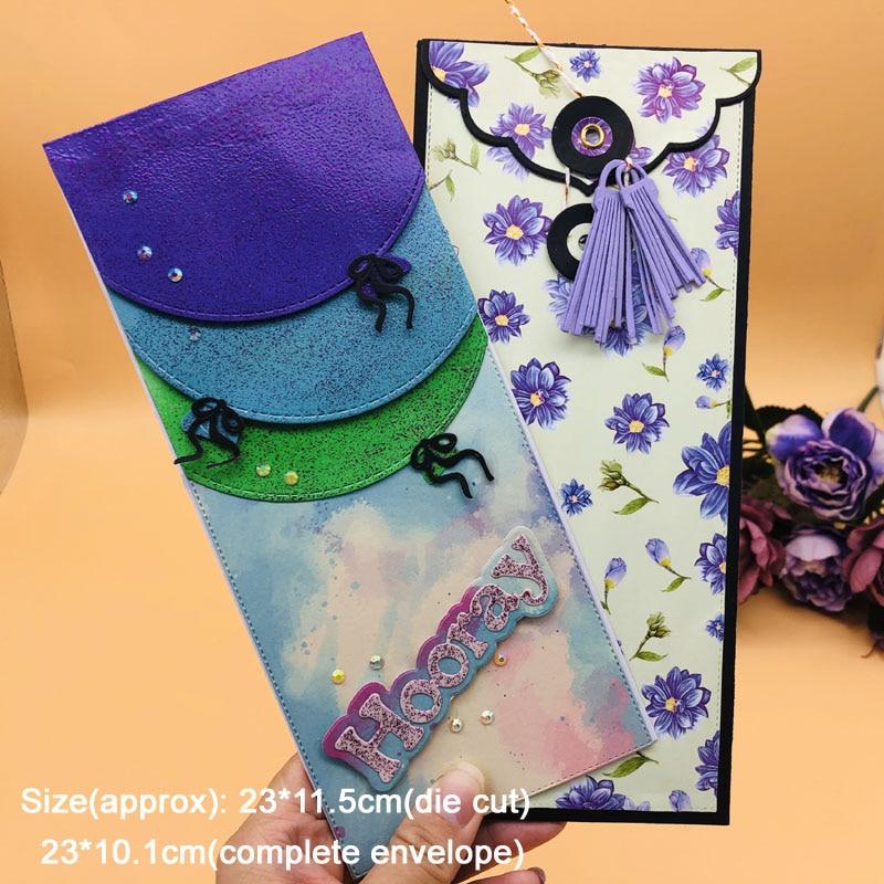 Alinacutle Metal Cutting Dies Cut Slimline Card Envelope Set Scrapbooking Paper Craft Handmade Album Punch Art