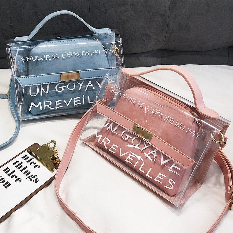 2020 Transparent Bag branded women bag Clear Bag Women Handbags bolsa feminina Shoulder Bag Crossbody bag sac main femme