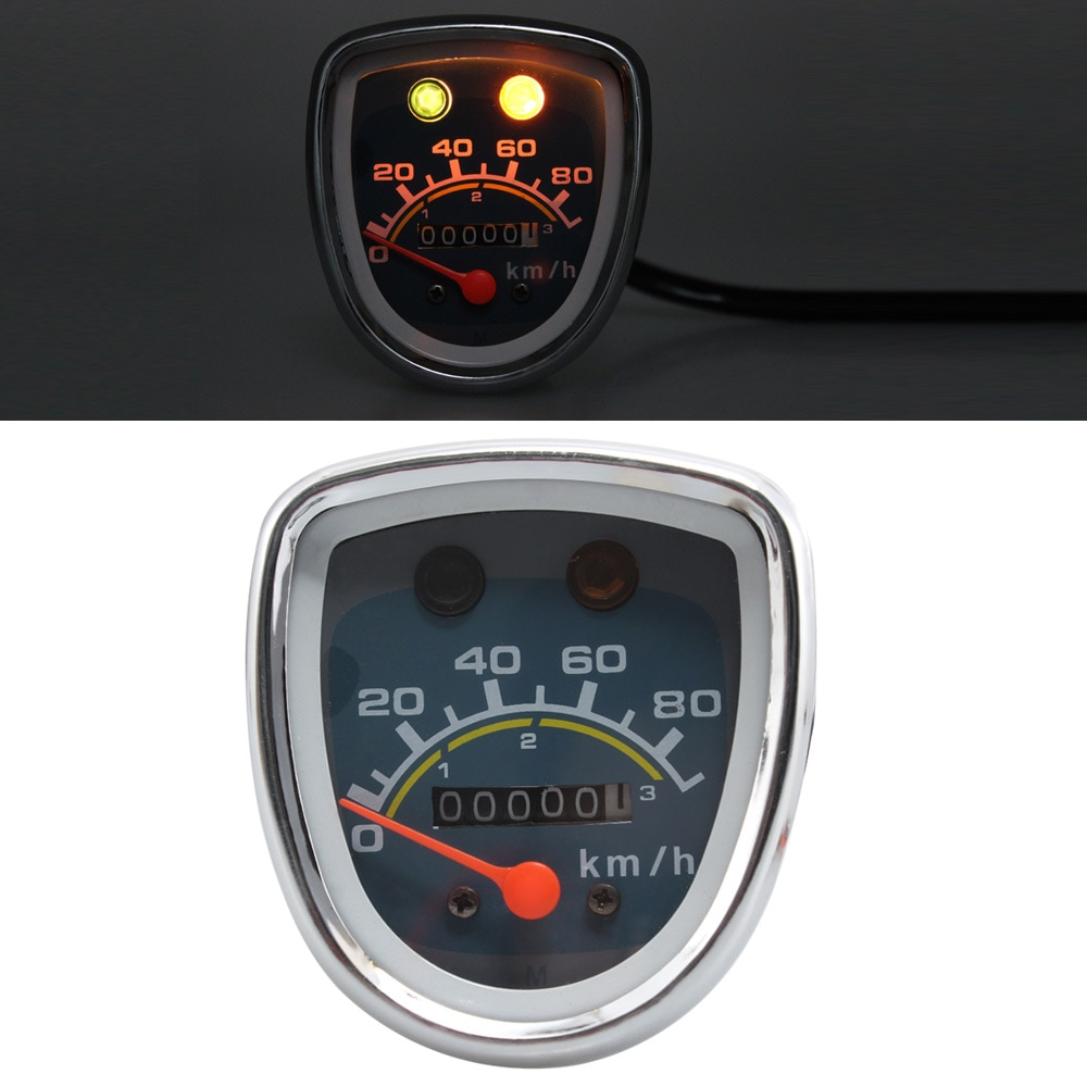 Motorcycle Retro Gauges For Honda Passport Cub C50 C70 C90 C70K1-D3 C70MK3 Deluxe 50 Speedometer Tachometer Universal
