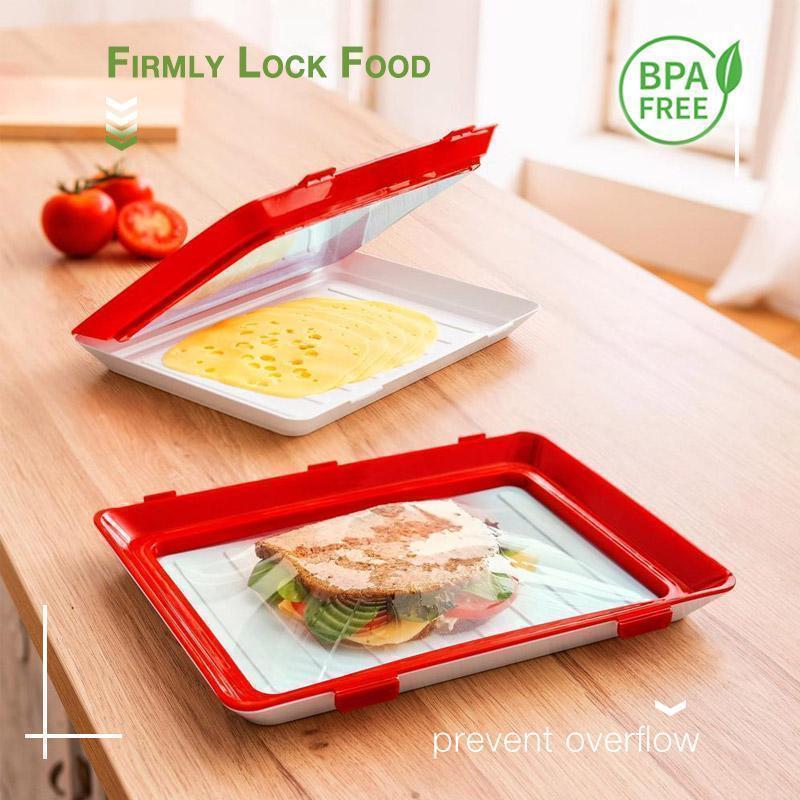 Креативный лоток для хранения пищевых продуктов, органайзер для сохранения свежести пищевых продуктов, холодильник для хранения пищевых п...