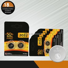 18 pièces/lot pour DURACELL CR2032 3V 100% batterie au Lithium dorigine pour montre télécommande calculatrice CR2032 2032