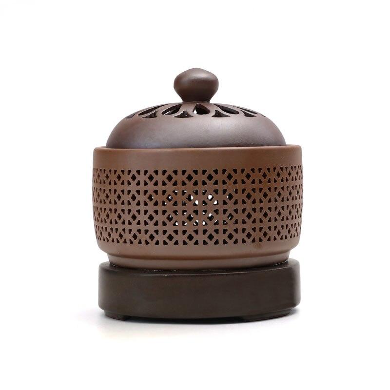 Quemador de incienso quemador eléctrico de porcelana aceites esenciales quemador de aromaterapia quemador Zen decoración de madera incienso quemador Incensario olor a habitación AC50IB