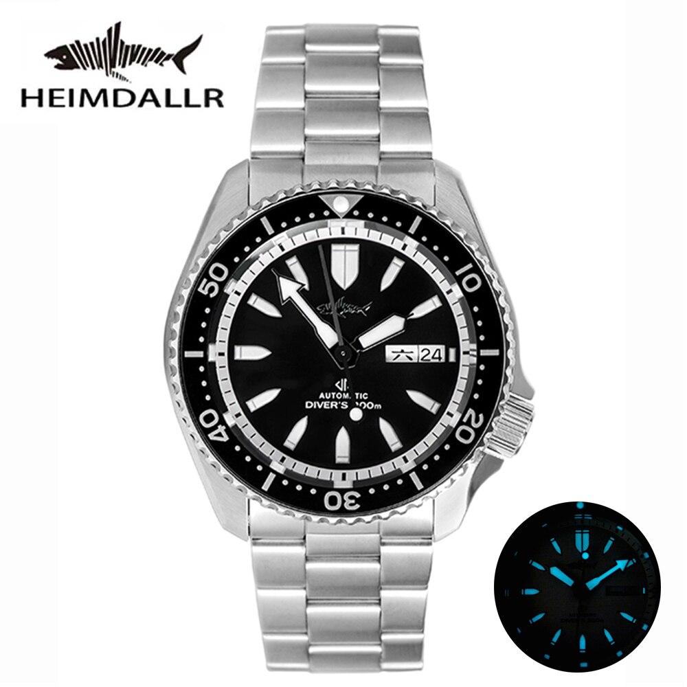 HEIMDALLR Sharkey SKX007-ساعة غوص كلاسيكية للرجال ، ساعة ميكانيكية للرجال ، قرص ياقوت مضيء 200 متر ، NH36 ، حركة أوتوماتيكية فاخرة