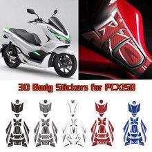 Kodaskin 3D Carbon Fiber Motorrad Aufkleber Tank Kappe Pad Motor Dekoration Aufkleber Für Honda PCX150 pcx 150