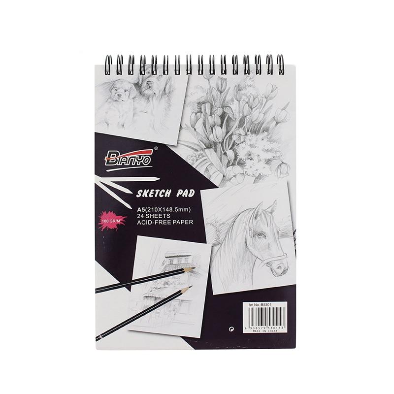 24Sheet A4/A5 Sketch Book for Art Student Sketching Painting Sketchbook 160gsm Art Supplies