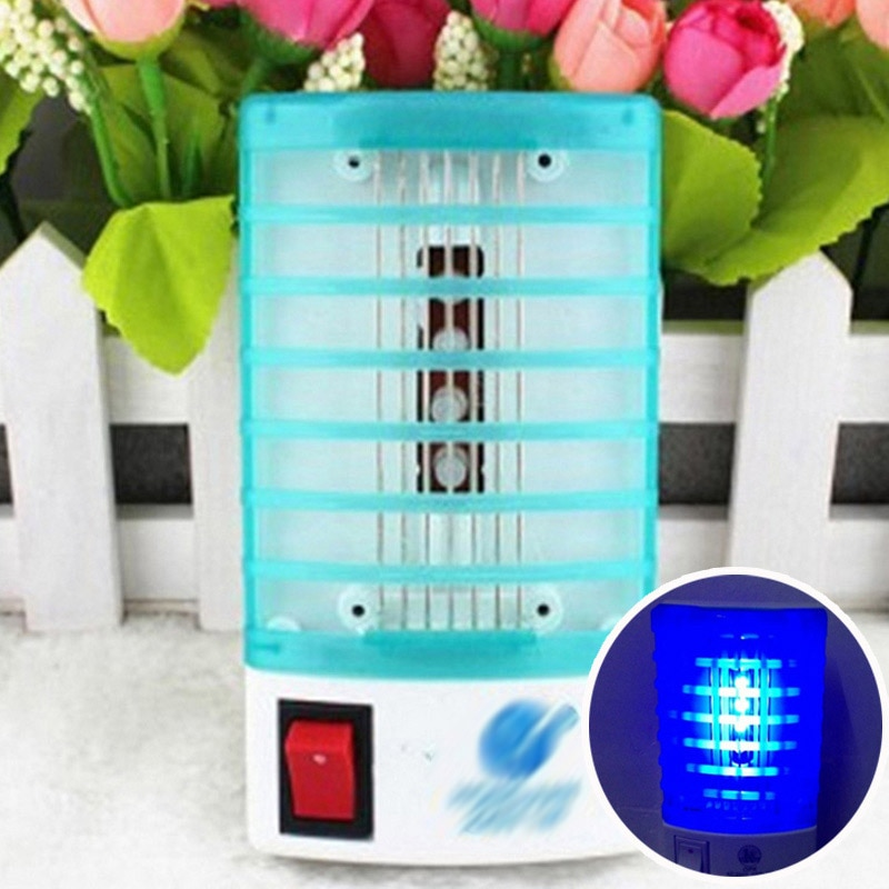 LED Elektrische 1 Pcs Mini Moskito Lampe EU UNS Buchse Insekten Falle Mörder Insekt Moskito Repeller 220V 110V tötung Fly Bug