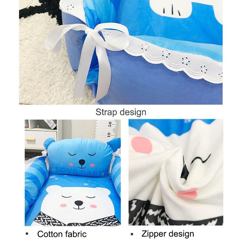 Babyinner Portable Baby Crib Cartoon Infant Nest Cradle Folding Newborn Travel Bed In Bed Cotton Cot Bassinet Room Decor enlarge