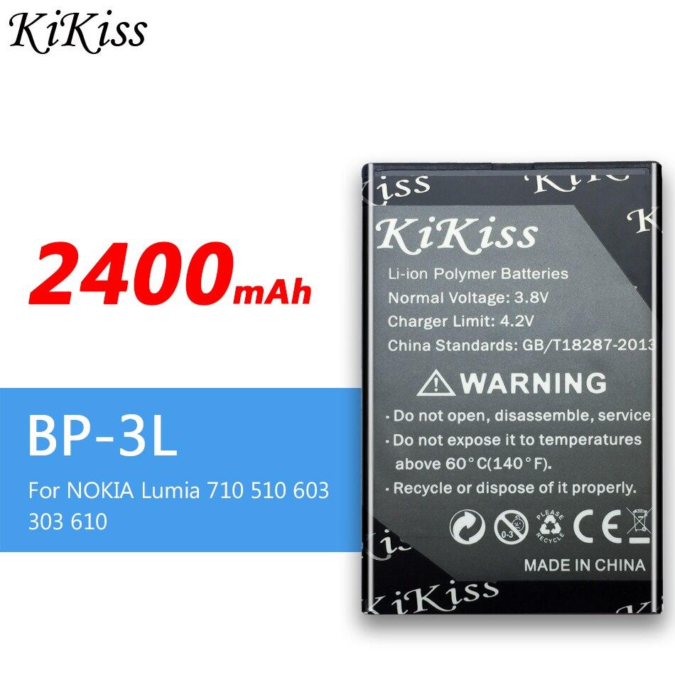 KiKiss-Batería de teléfono móvil resistente, BP-3L de batería de 2400mAh para NOKIA...