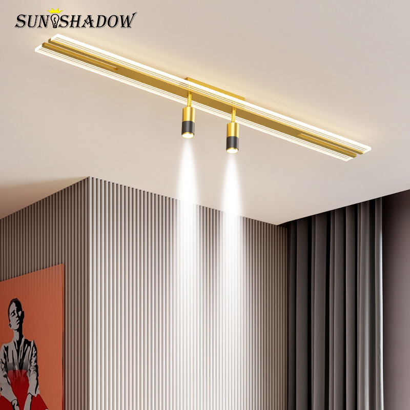 LED الثريا 100 سنتيمتر 120 سنتيمتر الاكريليك المعادن الحديثة ثريا تركب بالسقف الممر ضوء لغرفة المعيشة غرفة الطعام المطبخ مصباح غرفة النوم