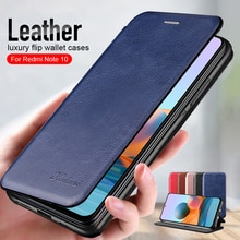 For Redmi Note10 Pro Case Leather Flip Magnetic Case For xiaomi redmi note 10 pro 10pro 10s not10 wallet stand book phone cover