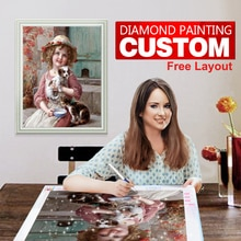 5d Diamond Painting Custom Full Drill Square Diamond Painting Custom Photo Art Cross Stitch DIY Needlework Home Decoration Gifts