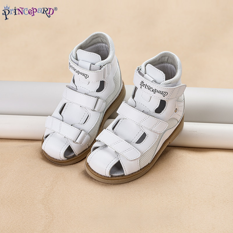 Princepard Orthopedic Leather Shoes for Children 2020 Summer Toddler Kids Girls Sandals Non-Slip Amortizing Sole and Thomas Heel enlarge