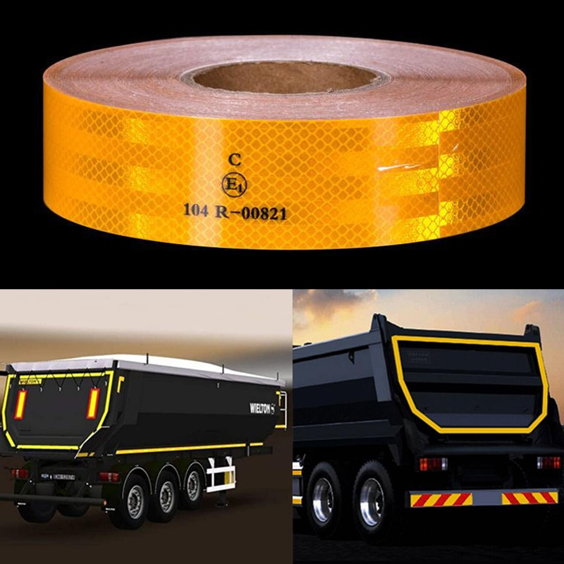 Reflective Safety Conspicuity Tape Car Campers Boats Trailer Reflectors Warning Tape