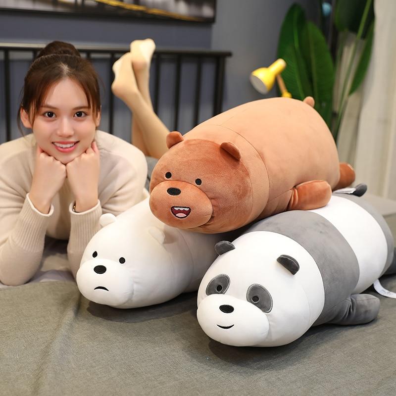 Big size Three Bare Bears Stuffed toys soft Cartoon panda Grizzly Pillow cute plush animal Cushion  kids gifts for Children