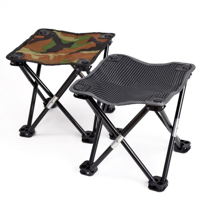 Silla de pesca portátil para acampar, senderismo y playa, taburete plegable de...