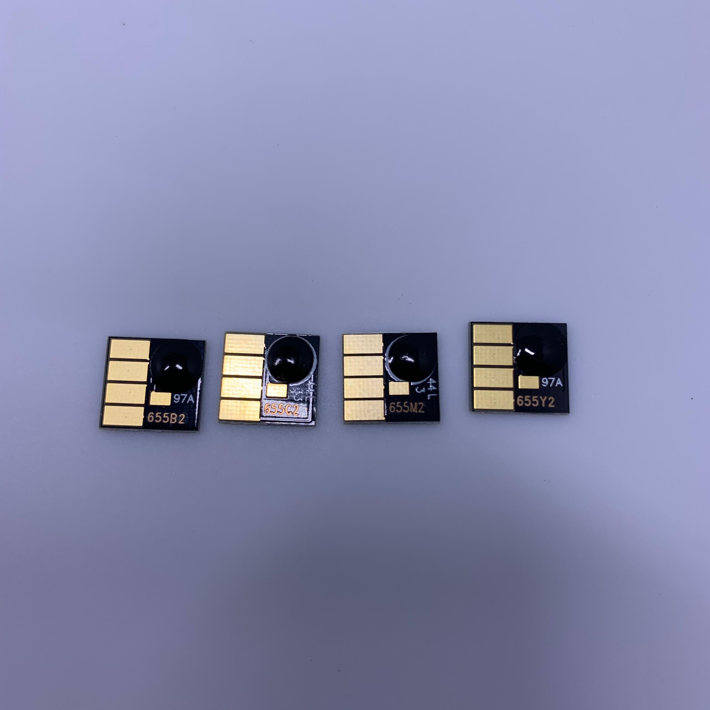 Yotat 4 pces chip permanente para hp655 hp655xl hp 655 para hp deskjet vantagem de tinta 3525/4615/4625/5525/6520/6525