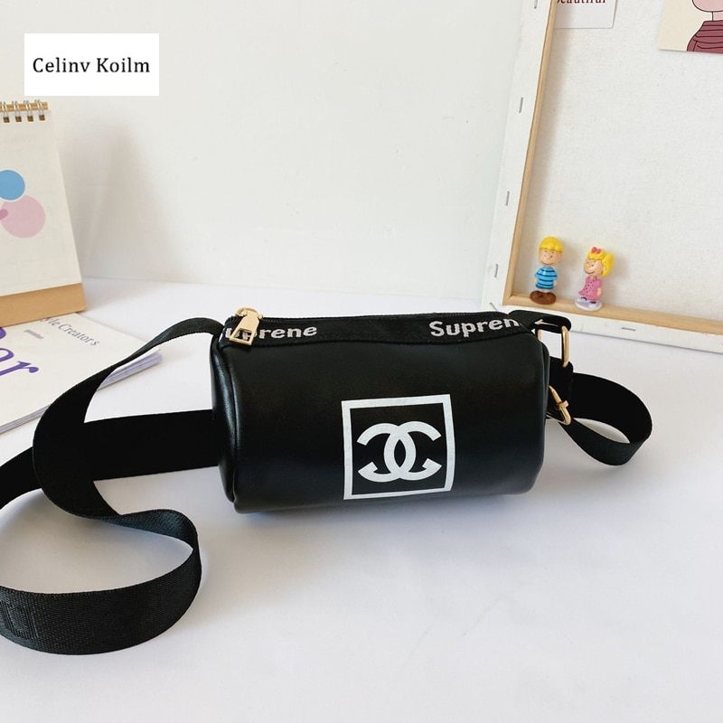 Celinv Koilm Girls Children Baby Simple And Generous Shoulder Bag New Ladies Bag PU Leather Zipper Messenger Bag