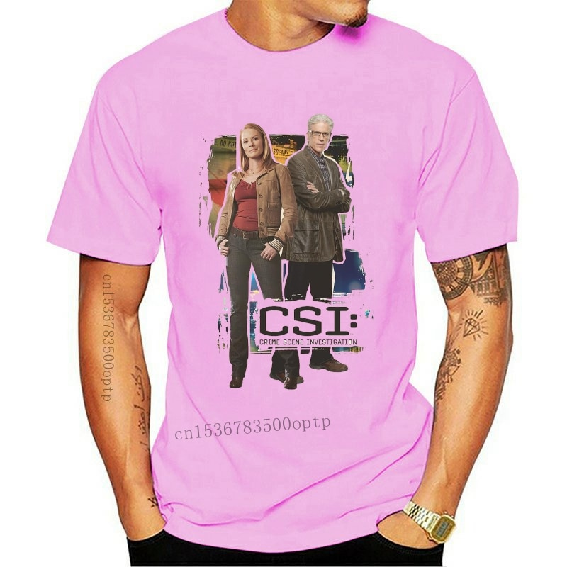 New CSI TV Show BACK TO BACK Catherine Willows D.B. Russell T-Shirt All Sizes